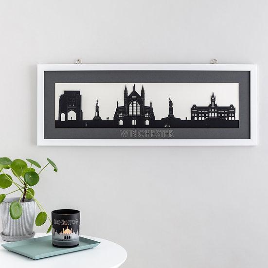 Winchester Skyline Papercut Print