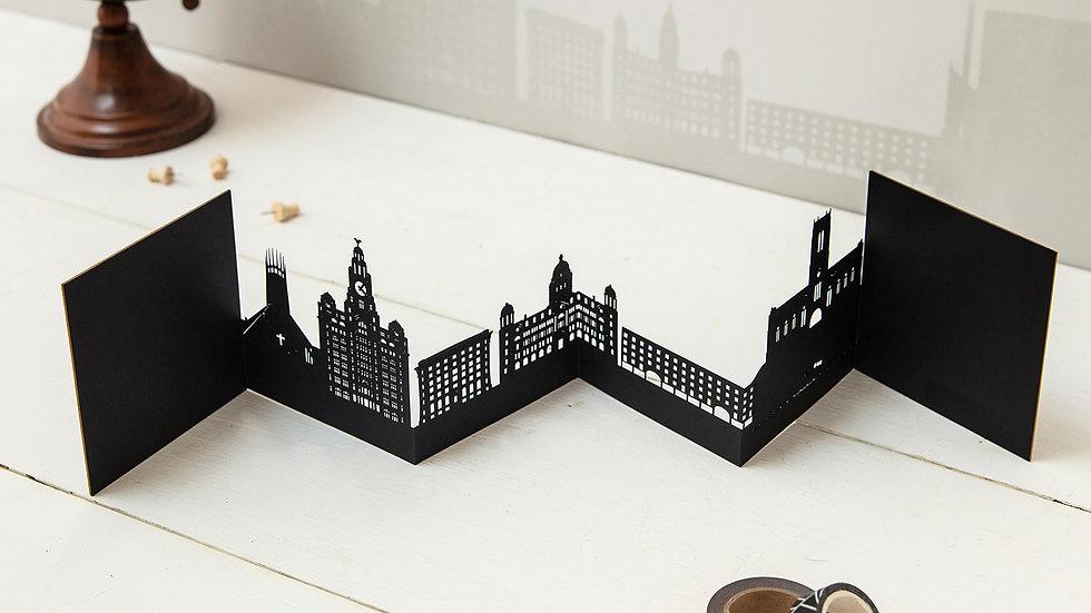 Liverpool 3D Skyline Card