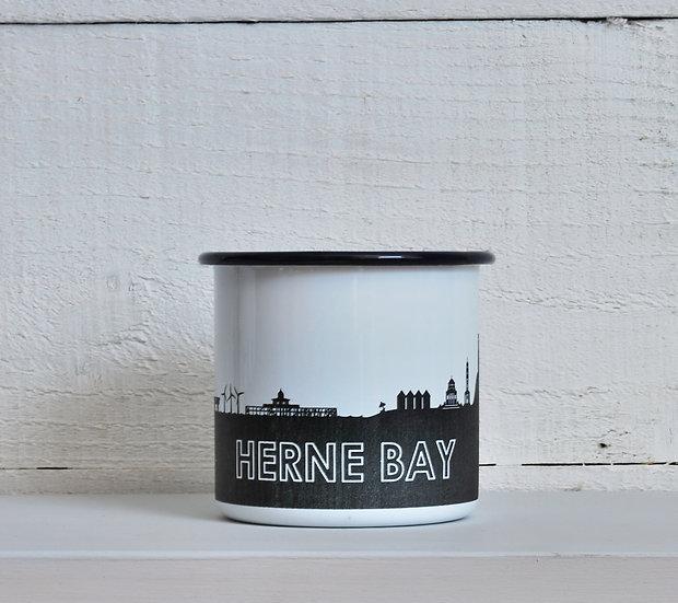 Herne Bay enamel mug snapdragon designs