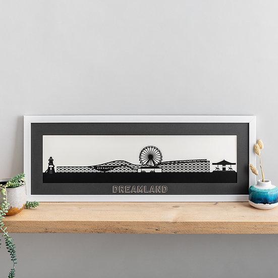 Dreamland, Margate Papercut Print