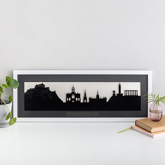 Edinburgh Skyline Papercut Print