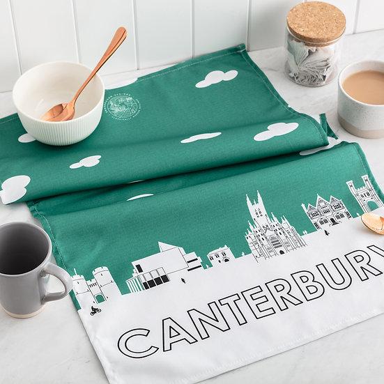 Canterbury Skyline Tea Towel