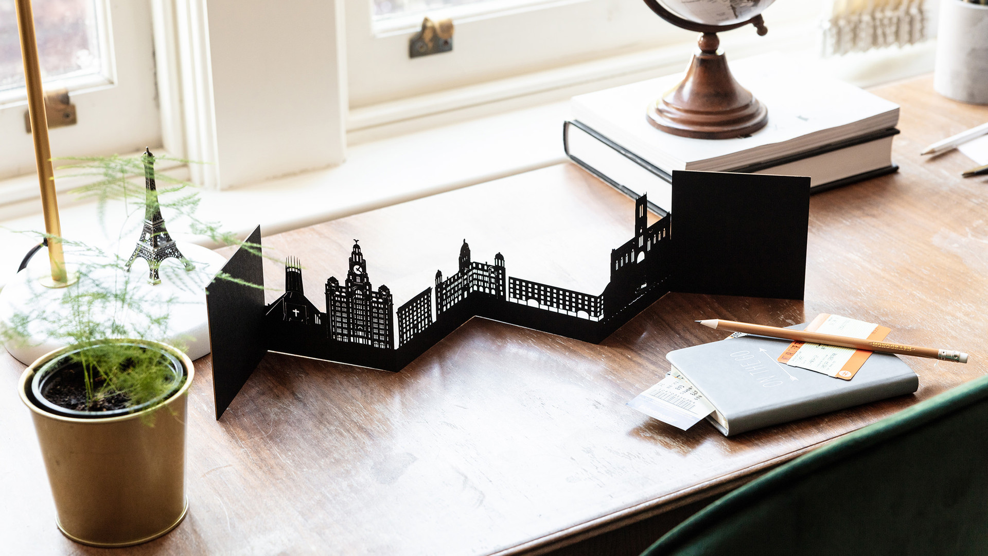 Snapdragon Designs Liverpool Skyline Car