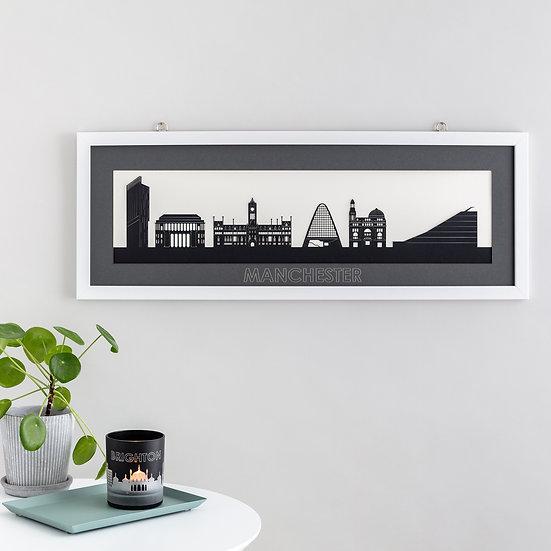 Manchester Skyline Papercut Print