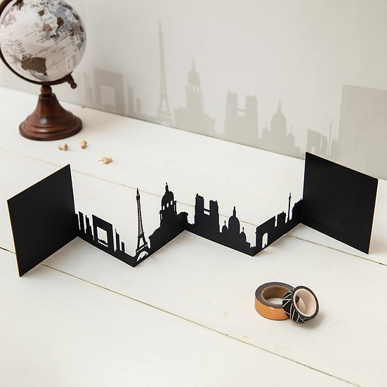 Paris 3D Skyline Card