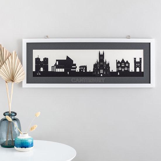 Canterbury Skyline Papercut Scene