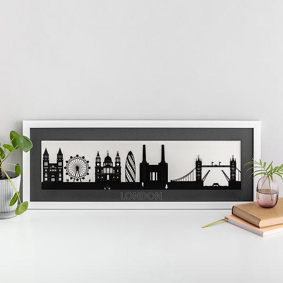 London Skyline Papercut Print