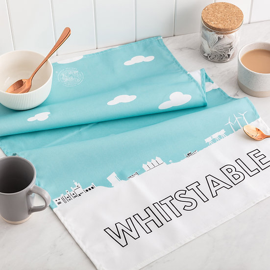 Whitstable Skyline Tea Towel