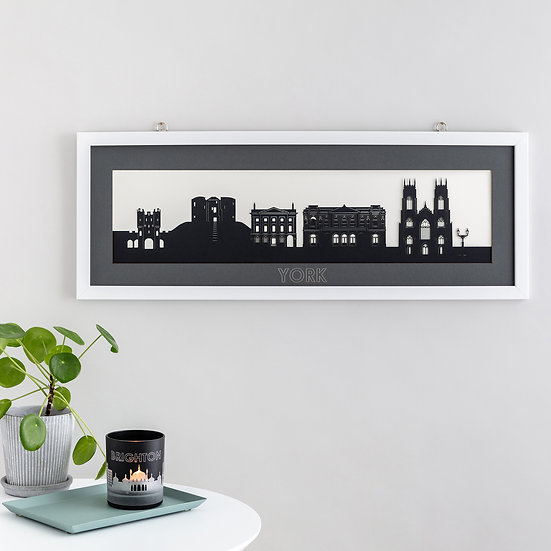 York Skyline Papercut Print
