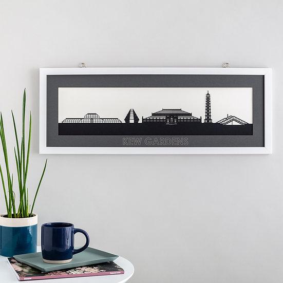 Kew Gardens Skyline Papercut Print
