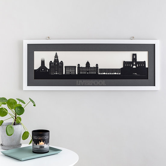 Liverpool Skyline Papercut Print