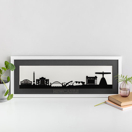 Newcastle Skyline Papercut Print