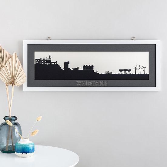 Whitstable Skyline Papercut Print