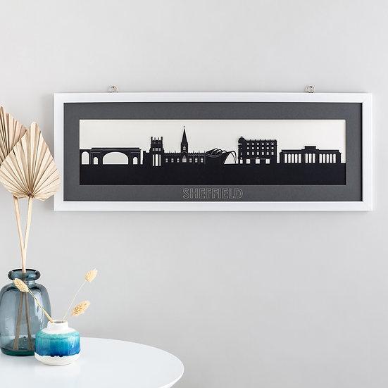 Sheffield Skyline Papercut Print