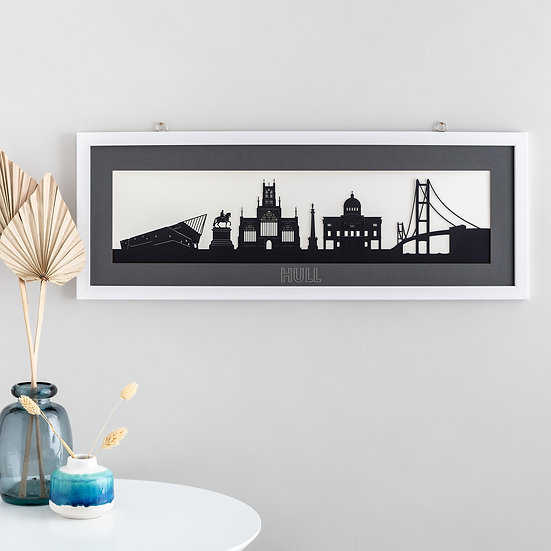 Hull Skyline Papercut Print