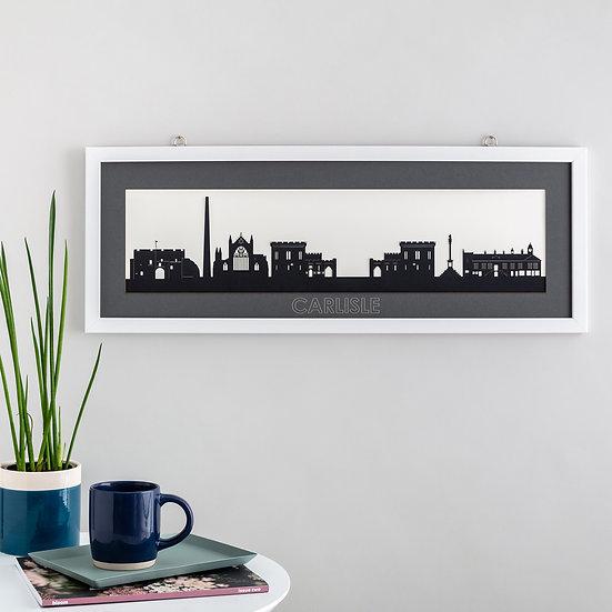 Carlisle Skyline Papercut Print