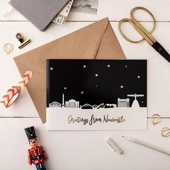 Newcastle Night A5 Greetings Card