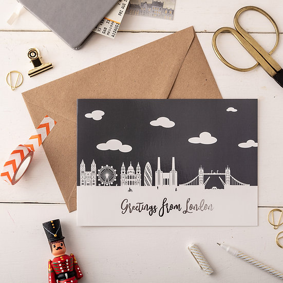London Day A5 Greetings Card