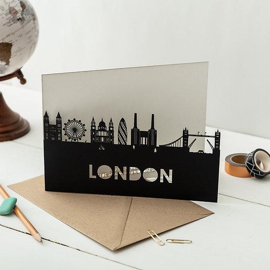 London A5 Lasercut Greetings Card