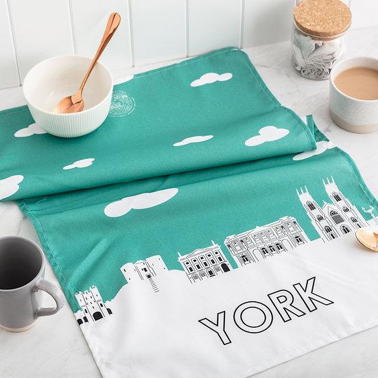 York Skyline Tea Towel