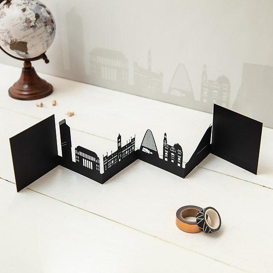 Manchester 3D Skyline Card