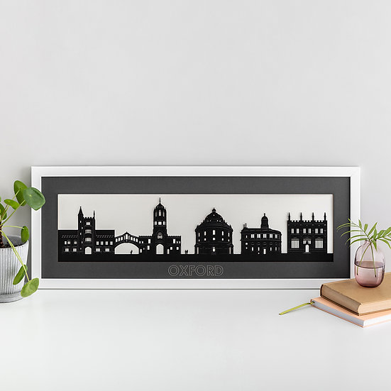 Oxford Skyline Papercut Print