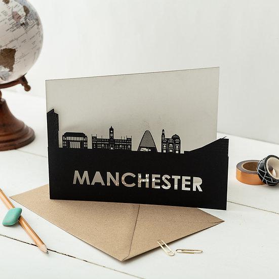 Manchester A5 Lasercut Greetings Card