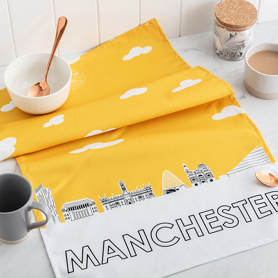 Manchester Skyline Tea Towel