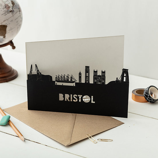 Bristol A5 Lasercut Greetings Card