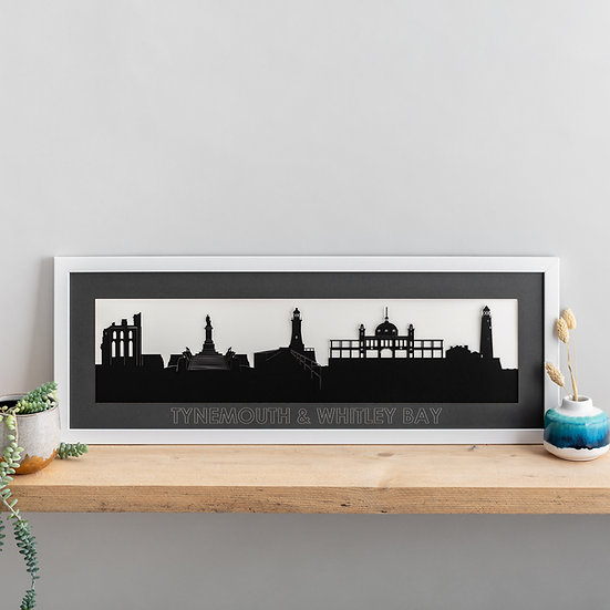 Tynemouth & Whitley Bay Skyline Papercut Print