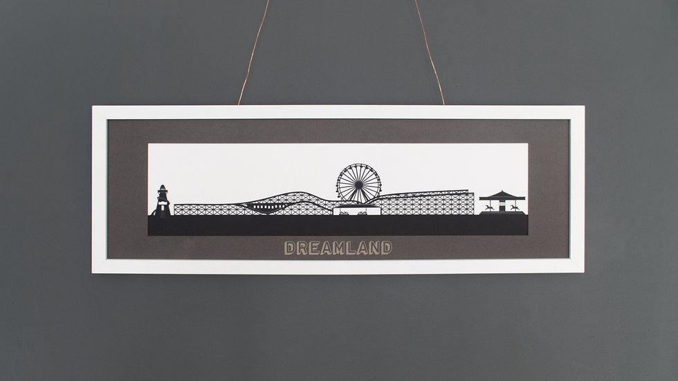 Dreamland, Margate Large Lasercut Print