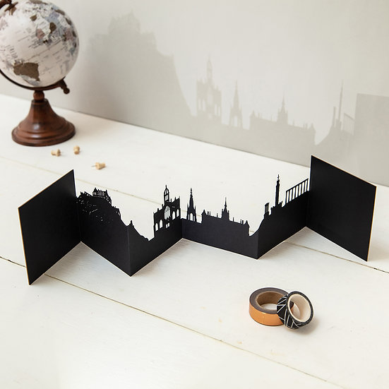 Edinburgh 3D Skyline Card