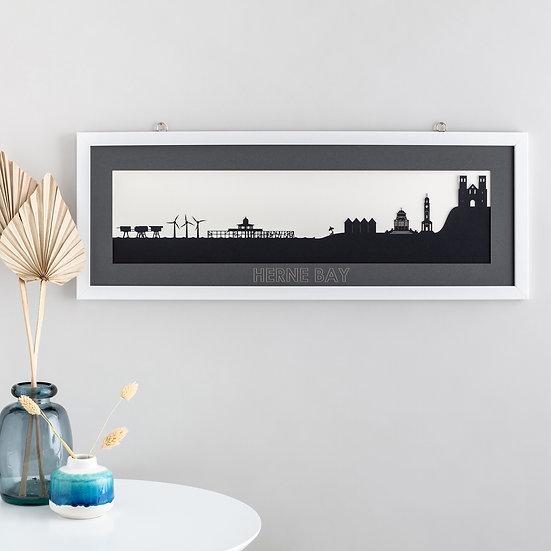 Herne Bay Skyline Papercut Print