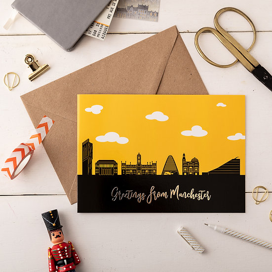Manchester Day A5 Greetings Card