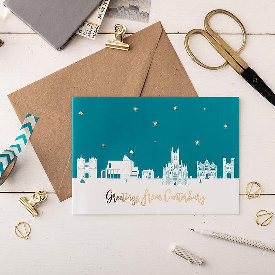 Canterbury Night A5 Greetings Card