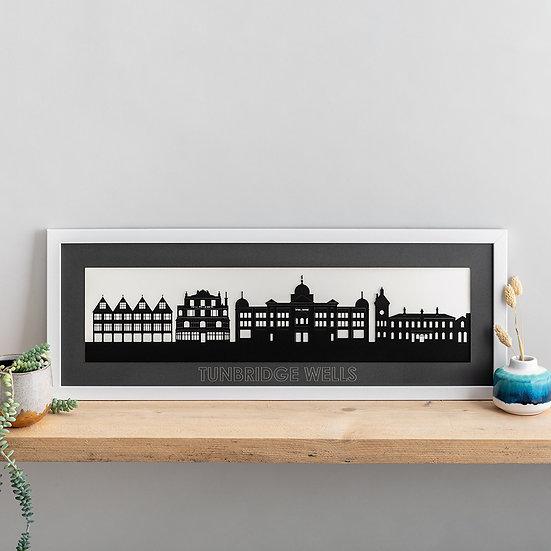 Tunbridge Wells Skyline Papercut Print