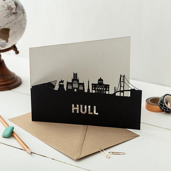 Hull A5 Lasercut Greetings Card