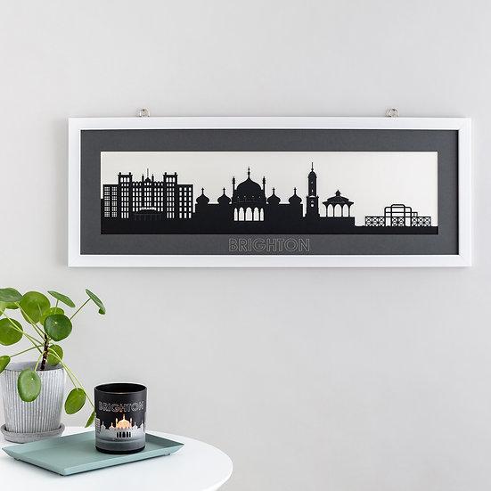 Brighton Skyline Papercut Print