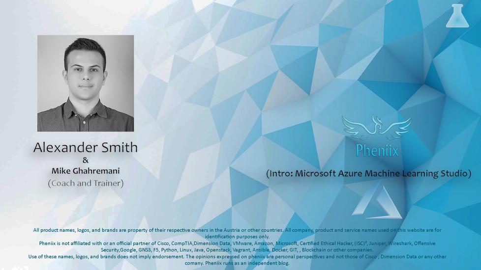 Intro: Microsoft Azure Machine Learning Studio