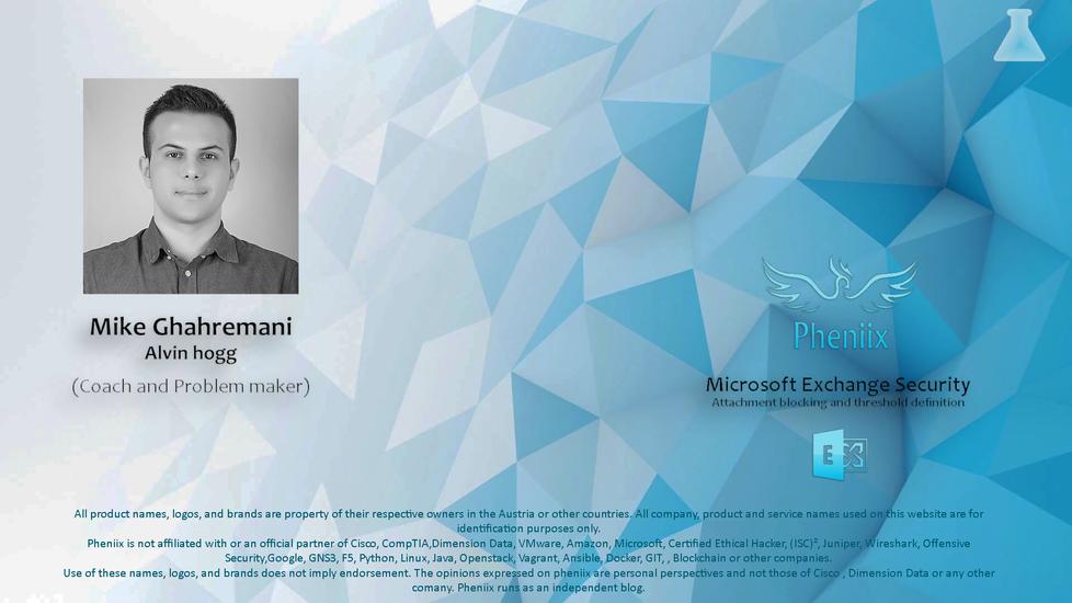 Microsoft Exchange Security #1 Level 1