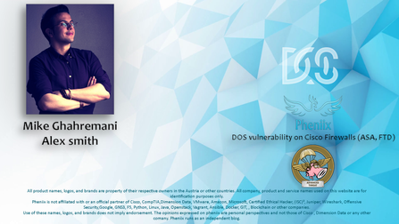 DOS vulnerability on Cisco Firewalls (ASA, FTD)