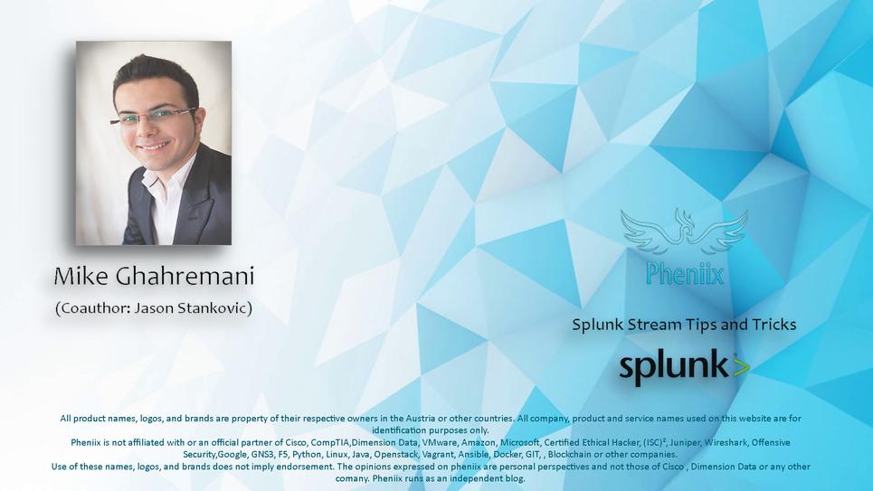 Splunk Stream Tips and Tricks