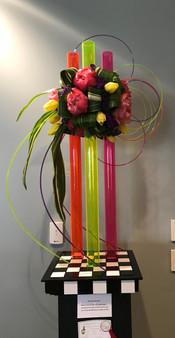 "Sukie Bracken's 2nd place ""Wildwood"" floral design"