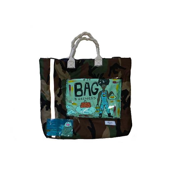 Small Camo Backpack Tote ( Big Bag Business )