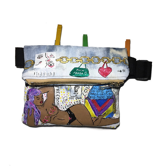"Hand Painted 1 of 1 ""Freedom & Fearless"" Fanny Pack"