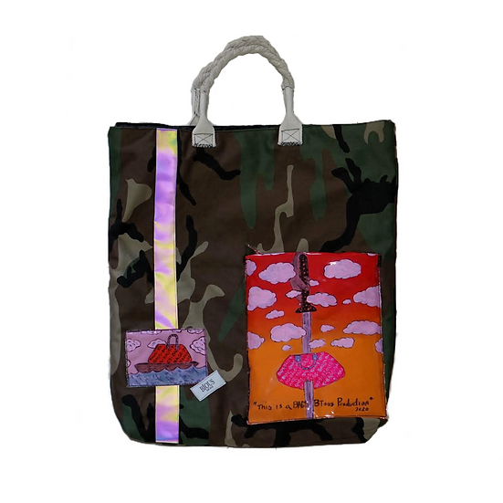 Large Camo backpack Tote