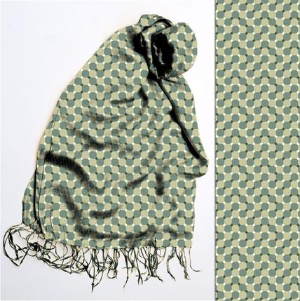 геометрический принт для шарфа