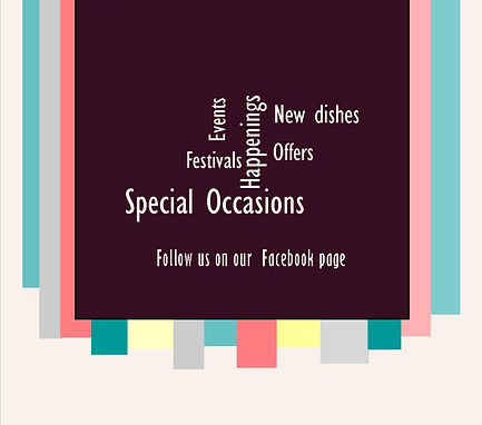 Follow us on our facebook page for new offers