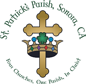 St. Patrick's Church Cross & Crown Logo