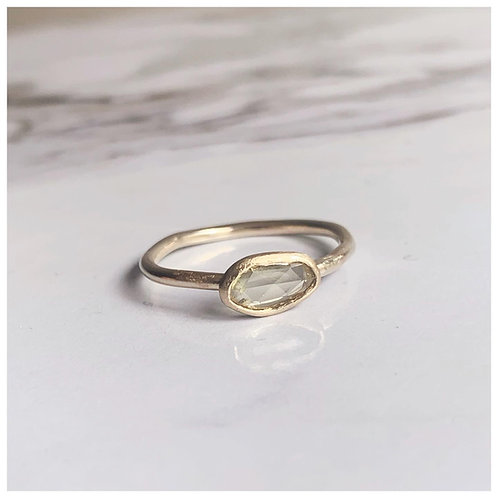 SIENNA - Beautiful raw Sapphire & recycled gold ring